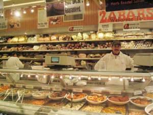 deli counter at Zabar's