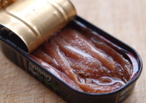 Anchovies in a tin