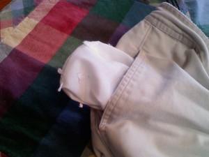 lint in pants  pocket
